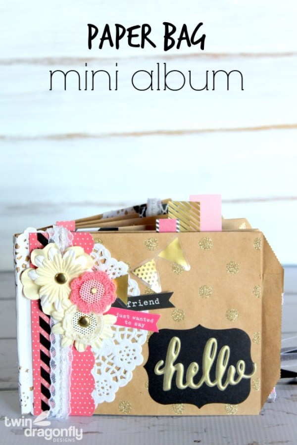 Paper Bag Mini Scrapbook Album
