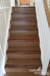 How to refinish wooden stairs  Dragonfly Designs