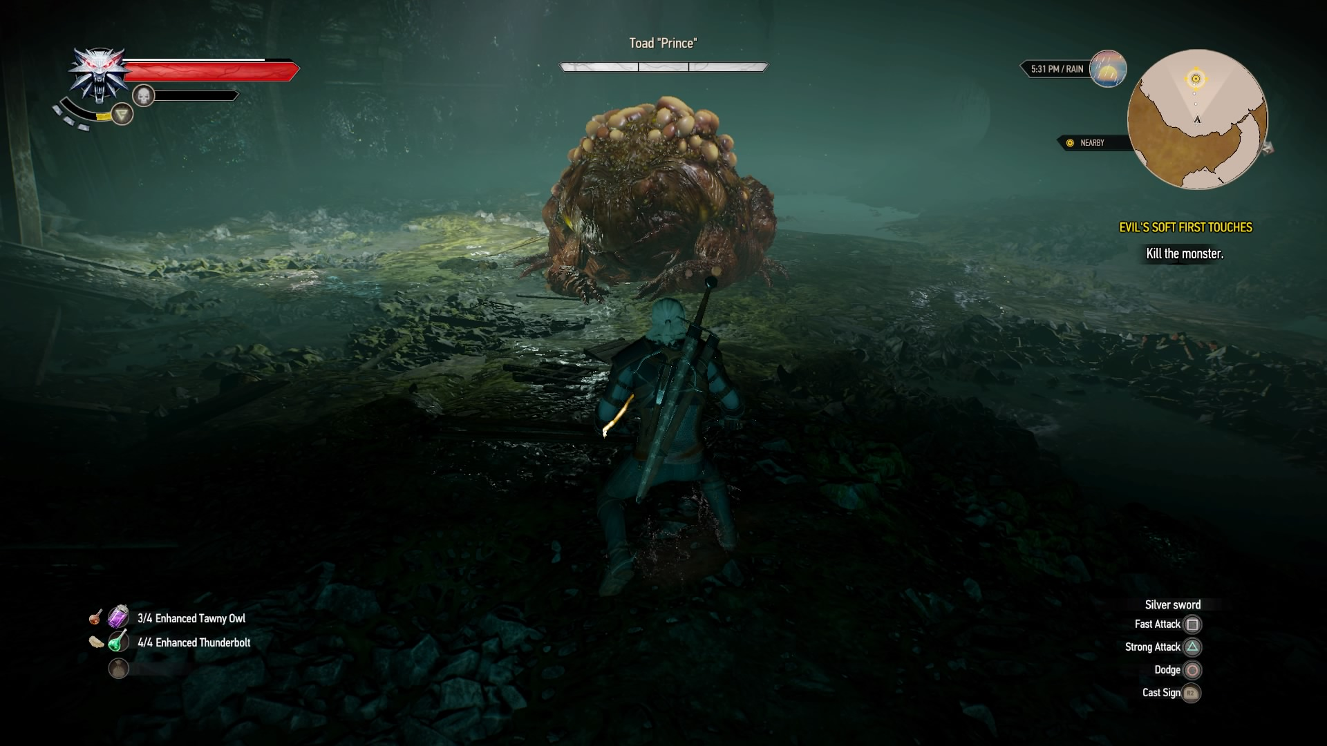 The Witcher 3: Hearts of Stone Boss Walkthrough - The Toad