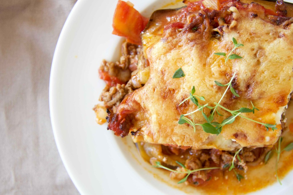 Low Carb Auberginen Lasagne