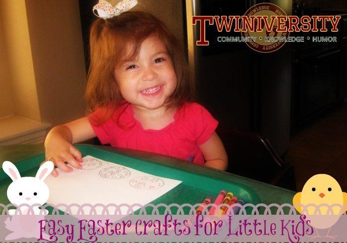 Easy easter crafts for little kids twiniversity for Crafts for little kids