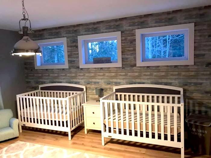 twin nursery design and
