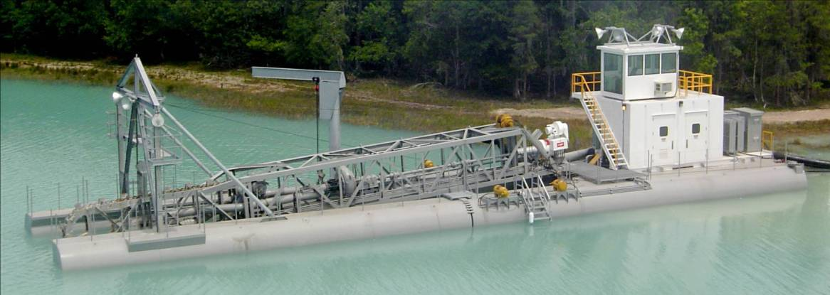 """12"""" L-Series dredge with Linear Cutter"""