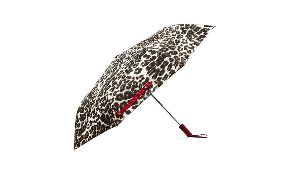 Diane Von Furstenberg snow leopard umbrella in vintage natural leopard
