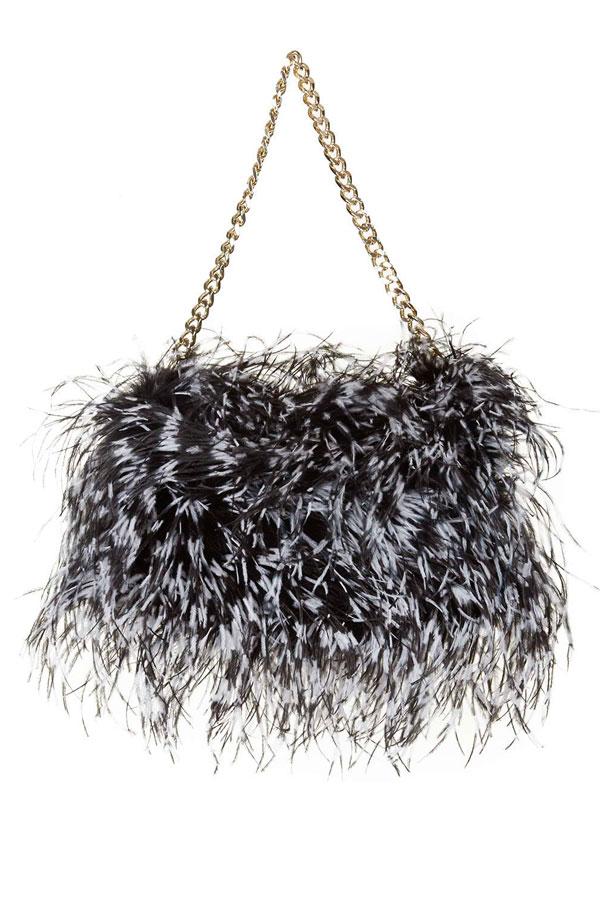 Ostrich-Feather-Shoulder-Bag