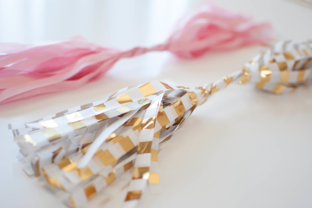 Tissue Tassel Garland Tutorial DIY Tutorial