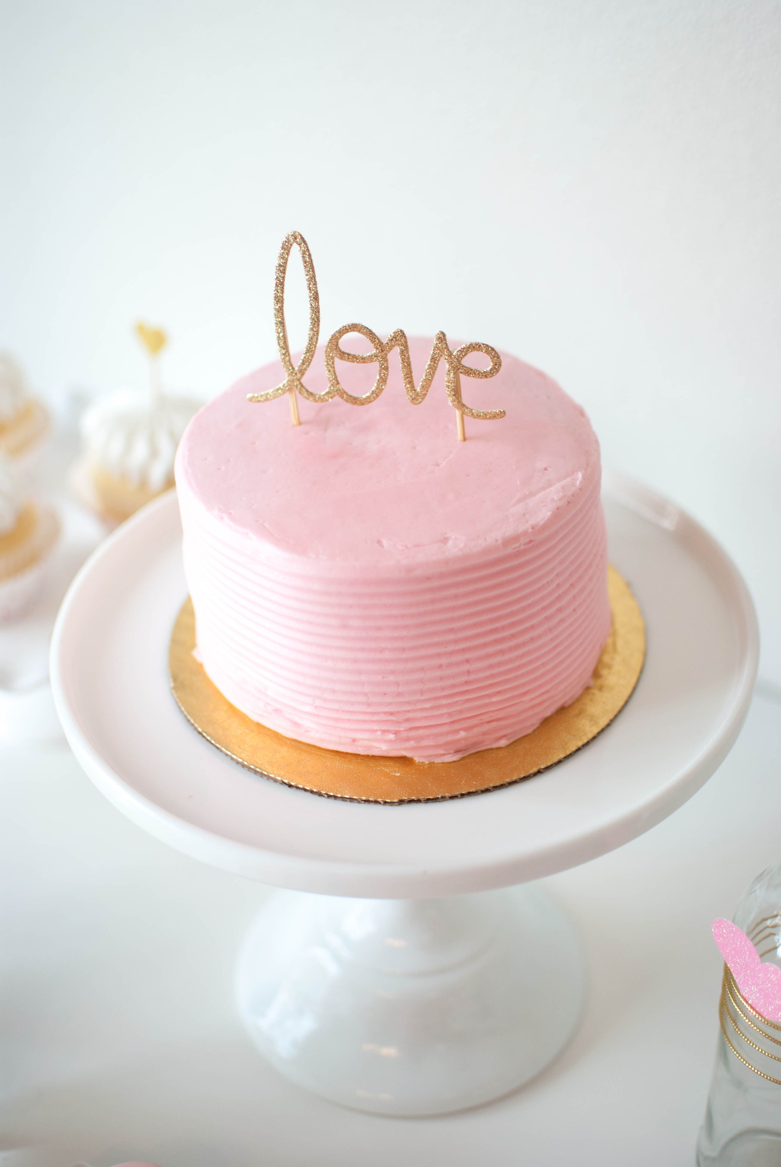 Pink amp Gold Valentines Day Party Ideas TWINKLE