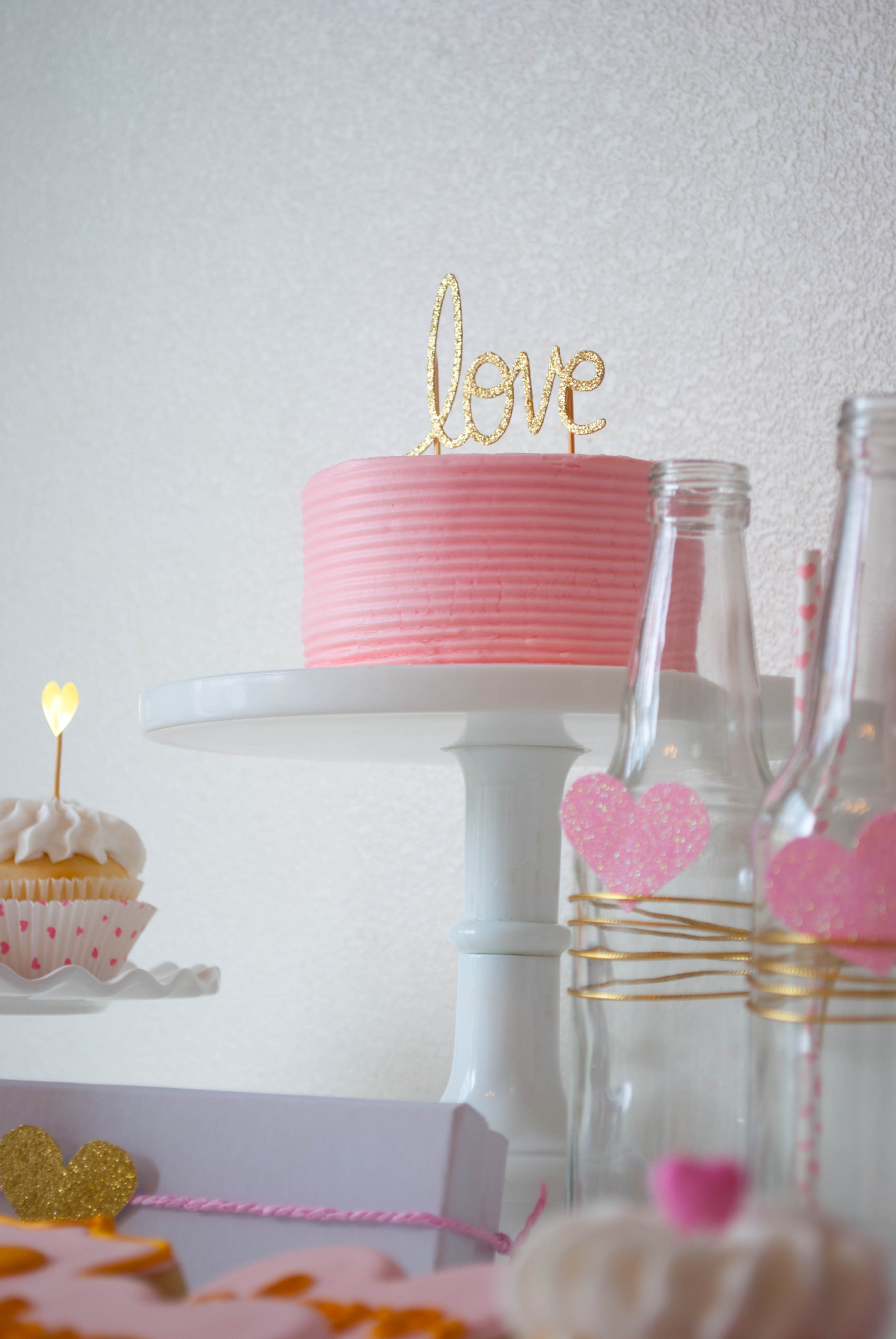 Pink Amp Gold Valentine S Day Party Ideas Twinkle Twinkle