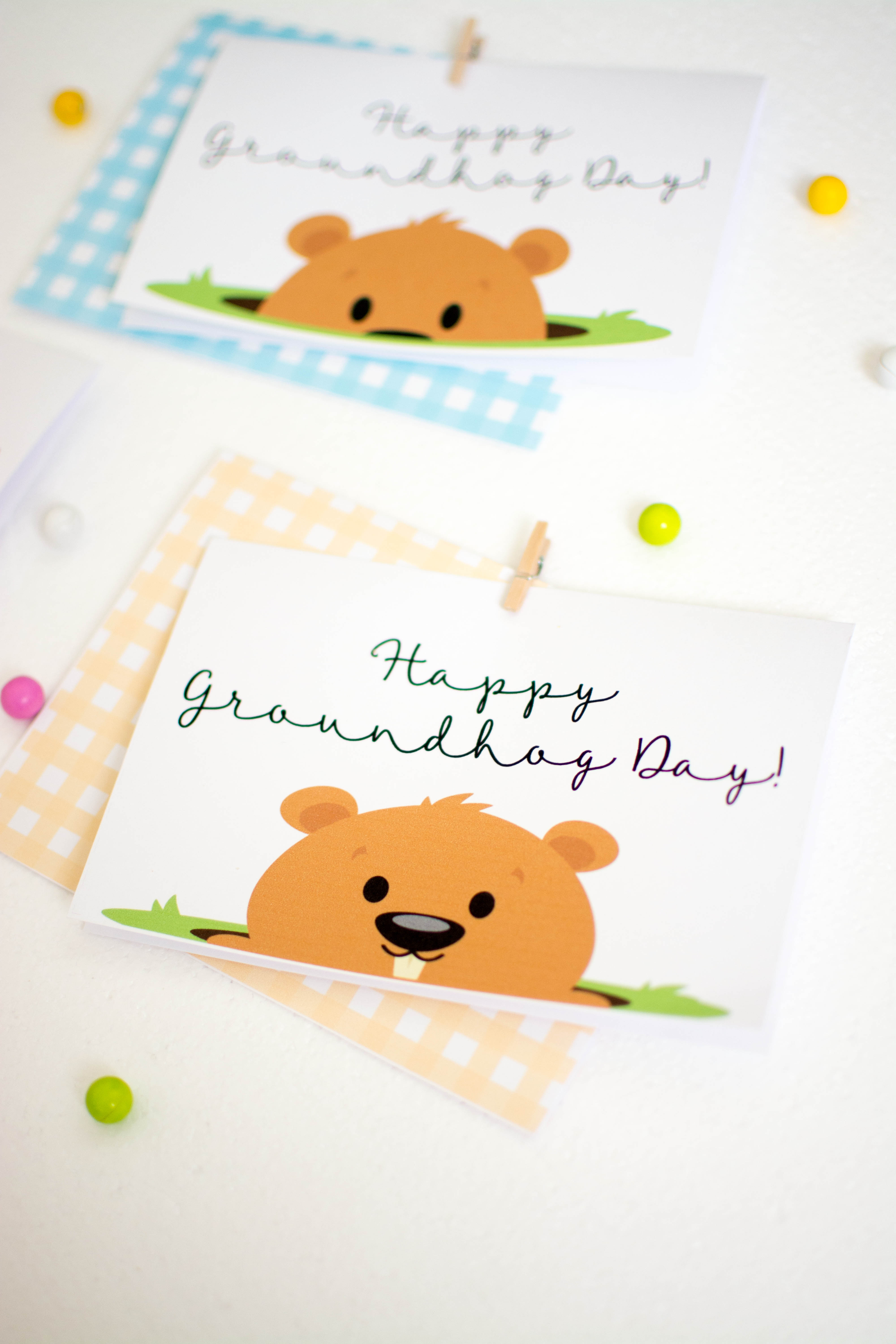 Happy Groundhog Day Cards
