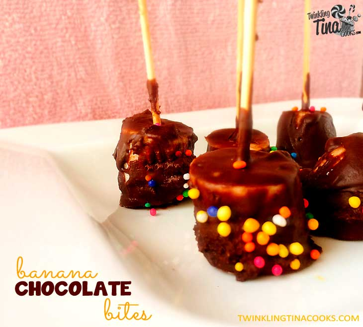 Banana Chocolate Bites - No bake Quick Easy Dessert Recipe
