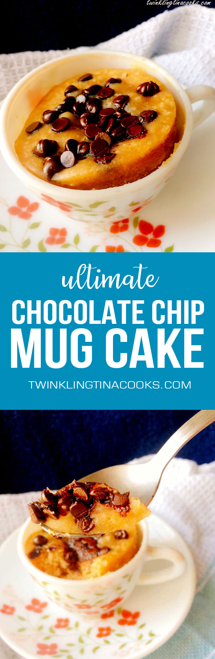 Ultimate Chocolate Chip Mug Cake – 60 second eggless mug cake in ...