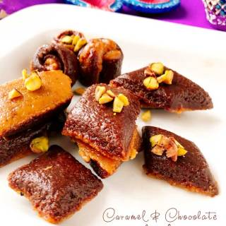 Caramel chocolate burfi recipe | chocolate barfi recipe | burfi recipe | Indian sweet recipe