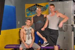 Austin Wilde, Johnny Torque, and Connor Maguire at the gym (AustinWilde.com)