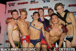 We certainly missed a hot time at the Black Party Expo! (Cocky Boys)