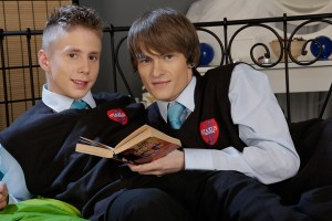 Studying can be boring. Alec Palk and Justin Conway make it fun and sexy! (Staxus)