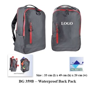 BG 359B -- Waterproof Back Pack