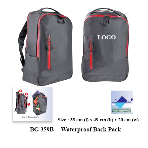 BG 359B — Waterproof Back Pack