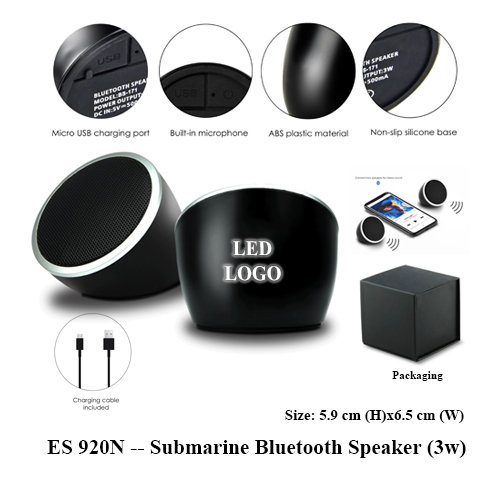 ES 920N — Submarine Bluetooth Speaker (3w)