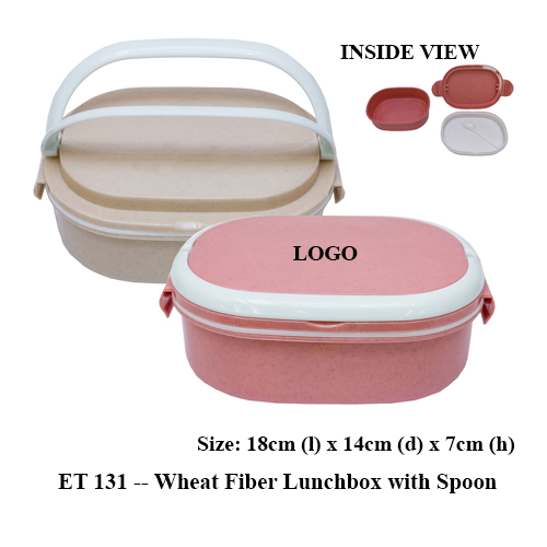 ET 131 — Wheat Fiber Lunchbox with Spoon
