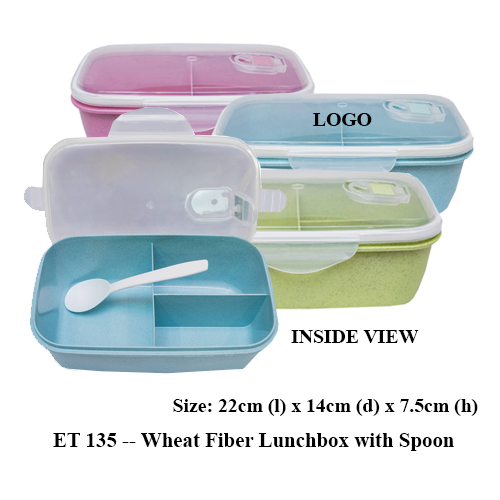 ET 135 — Wheat Fiber Lunchbox with Spoon