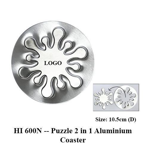 HI 600N — Puzzle 2 in 1 Aluminium Coaster