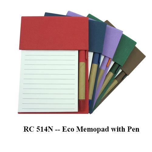 RC 514N — Eco Memopad with Pen