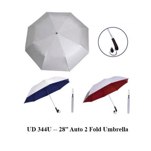 "UD 344U — 28"" Auto 2 Fold Umbrella"