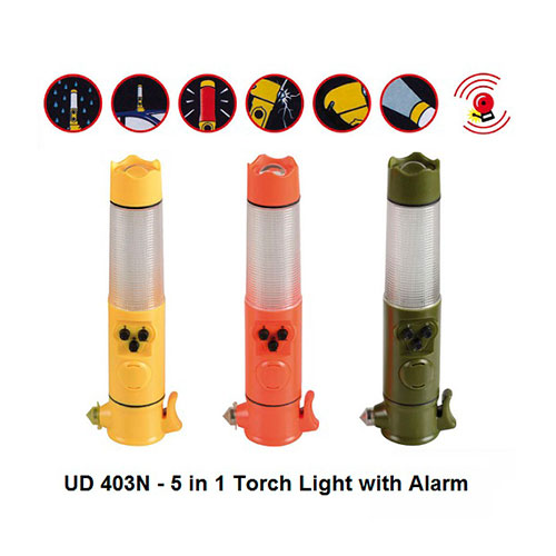 UD 403N – 5 in 1 Torch Light with Alarm