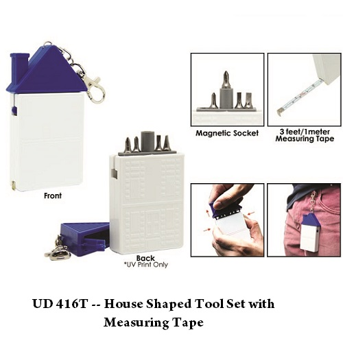 UD 416T — House Shaped Tool Set with Measuring Tape