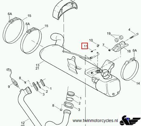 TWIN MotorcyclesBuell, Xb12 muffler spring Product number