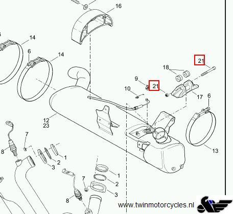 Buell XB9/12 Exhaust mount kit ( bolt & nut ) Product