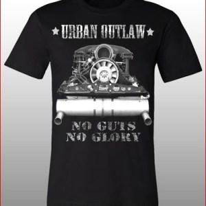 Magnus Walker Urban Outlaw 'No Guts No Glory' T-Shirt in Black-0