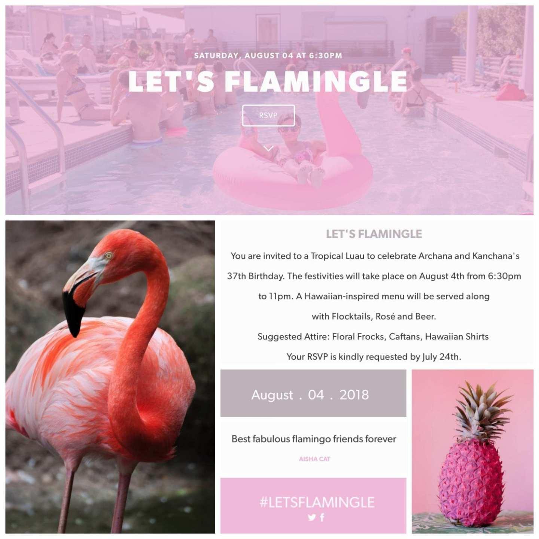 Lets Flamingle Invitation