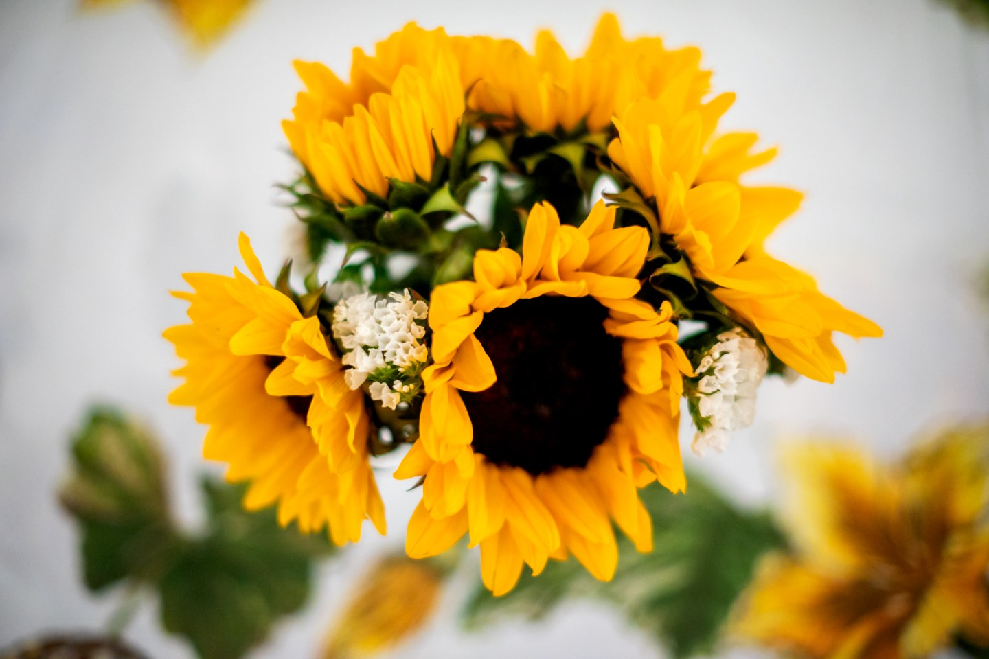 decorate with sunflowers