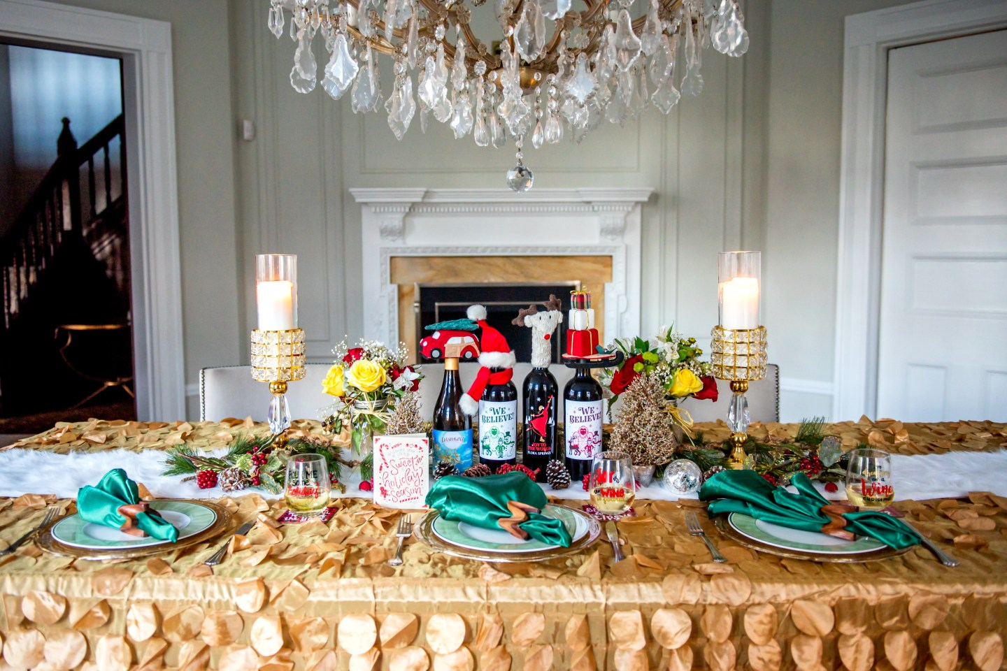 Holiday Tablescape with Flora Springs Holiday Wines