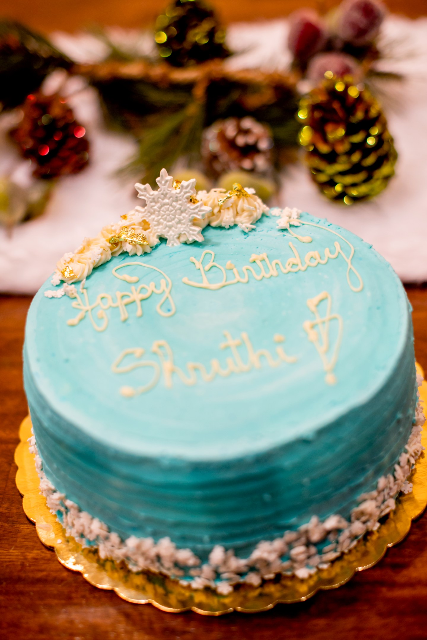 Christmas birthday party cake