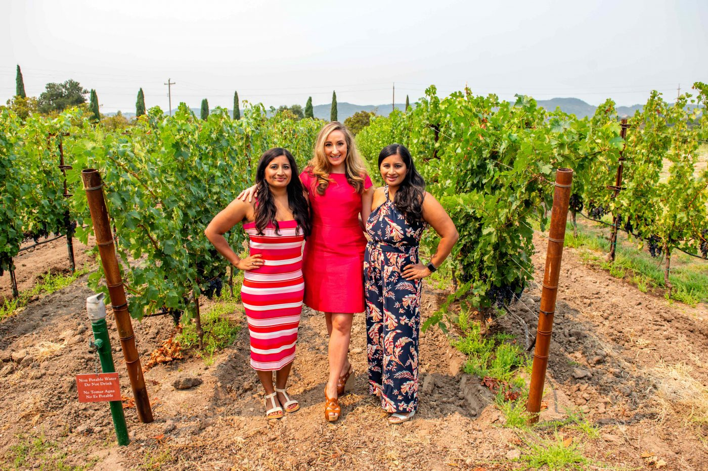 Women at Clos Du Val Vineyard