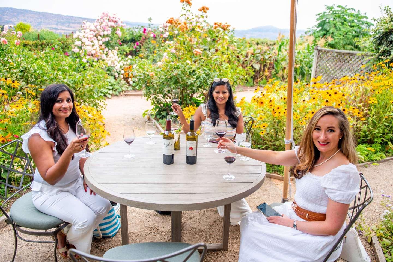 Trefethen Wine Tasting in the Rose Garden.Best Napa Trip.