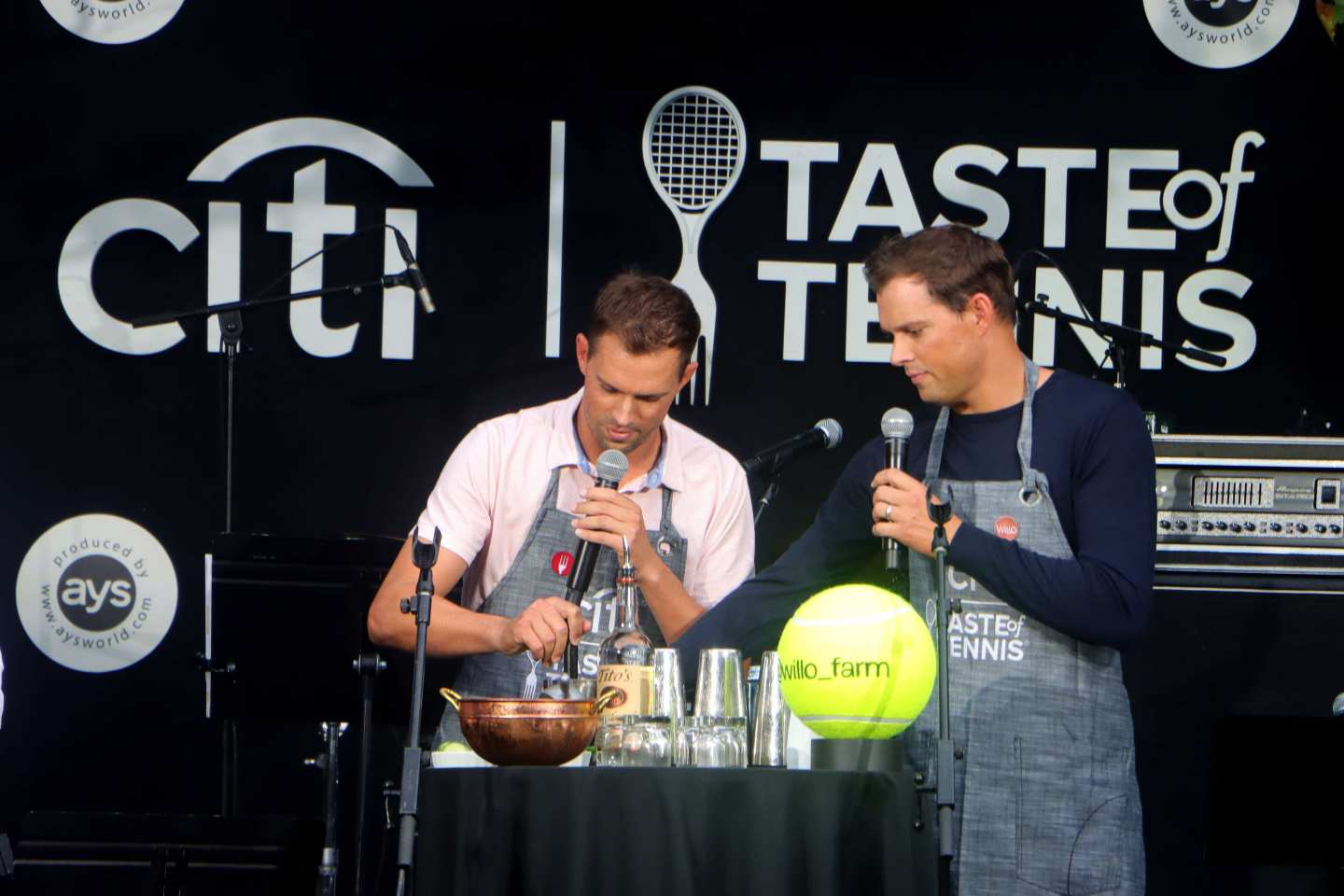 Taste of Tennis 2021 - Bob and Mike Bryan at Tavern on the Green. Citi Taste of Tennis.