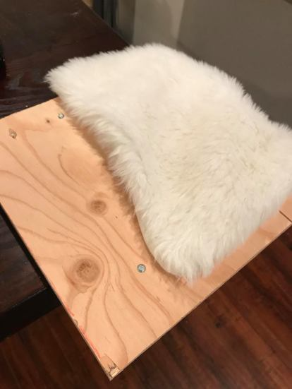 slipcover for wooden base of stocking stand