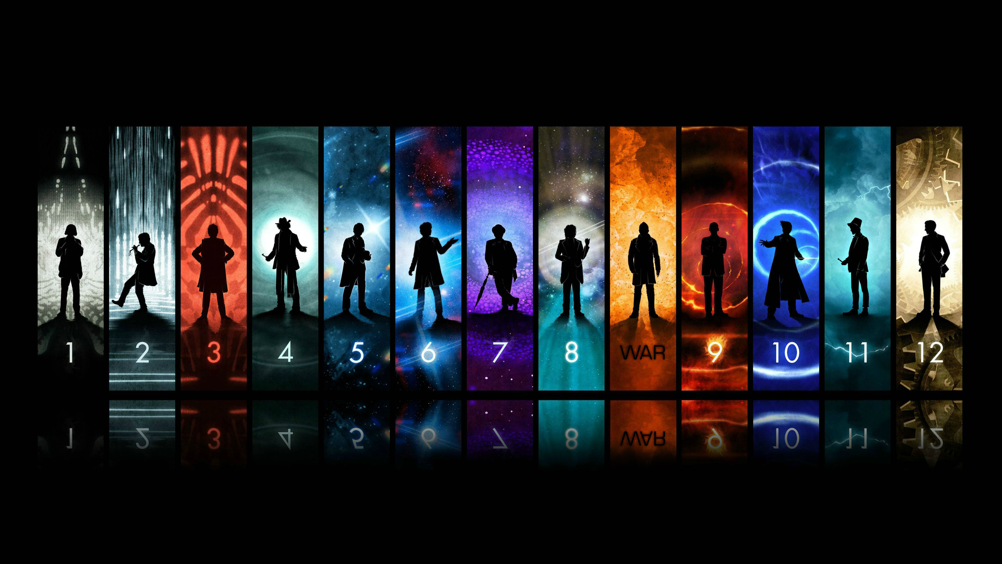 The 13 Regenerations of Doctor Who