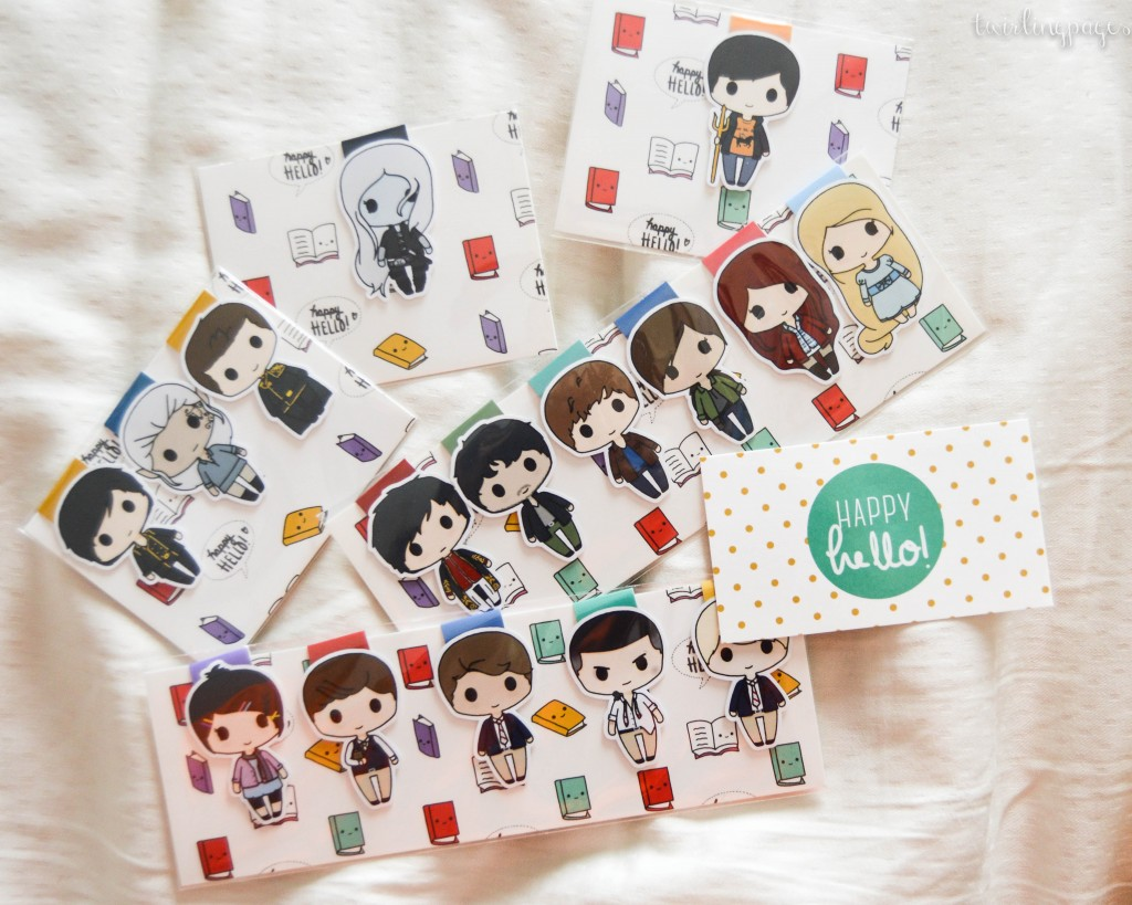 happy hello art bookmark1