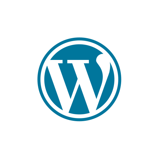 Wordpress Symbolmark of the white letter W in a blue circle