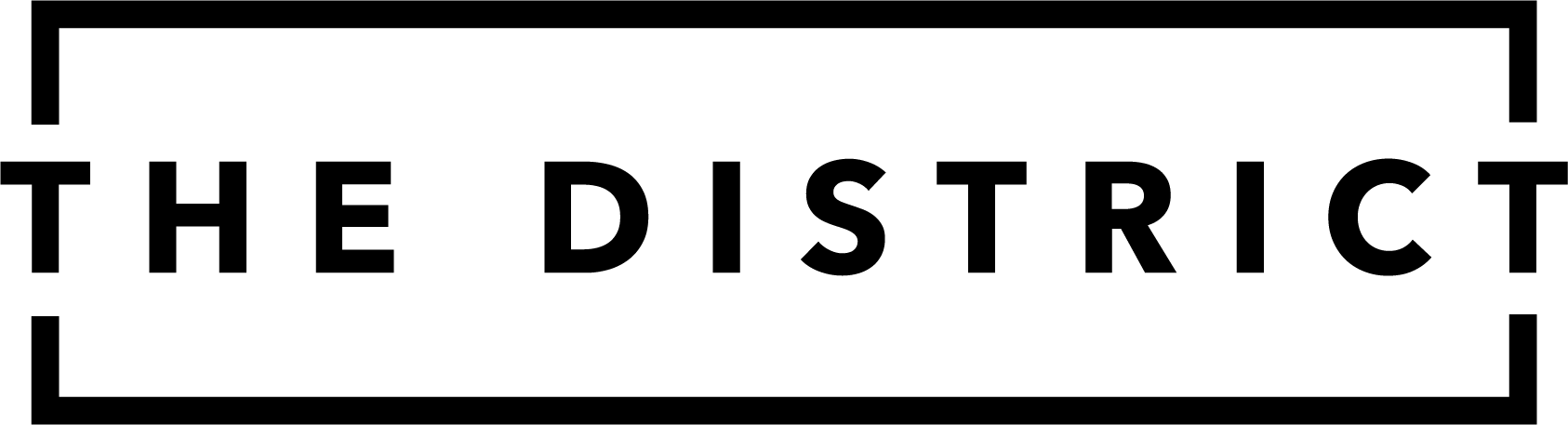 The District Logo in black with transparent background