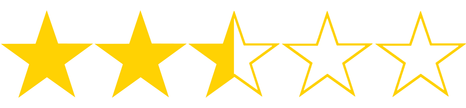 Image result for TWO AND A HALF STARS