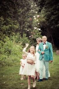 bloemetjes bruidmeisjes