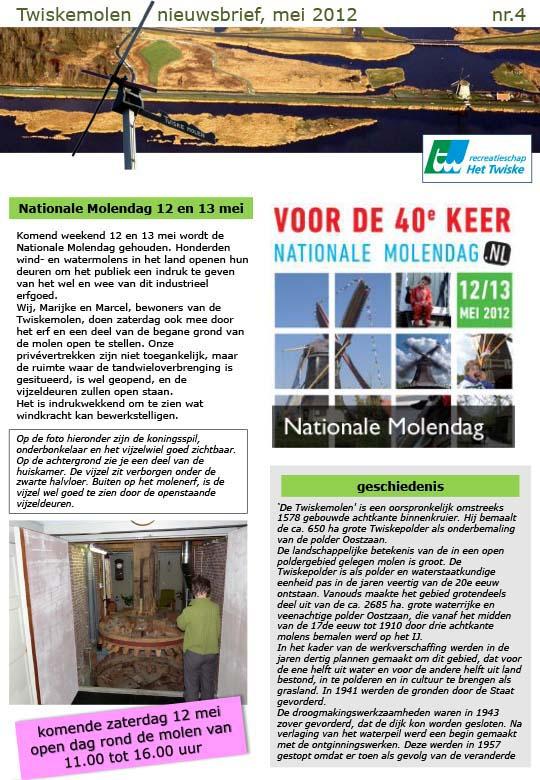 Twiskemolen Nieuwsbrief 04, 2012