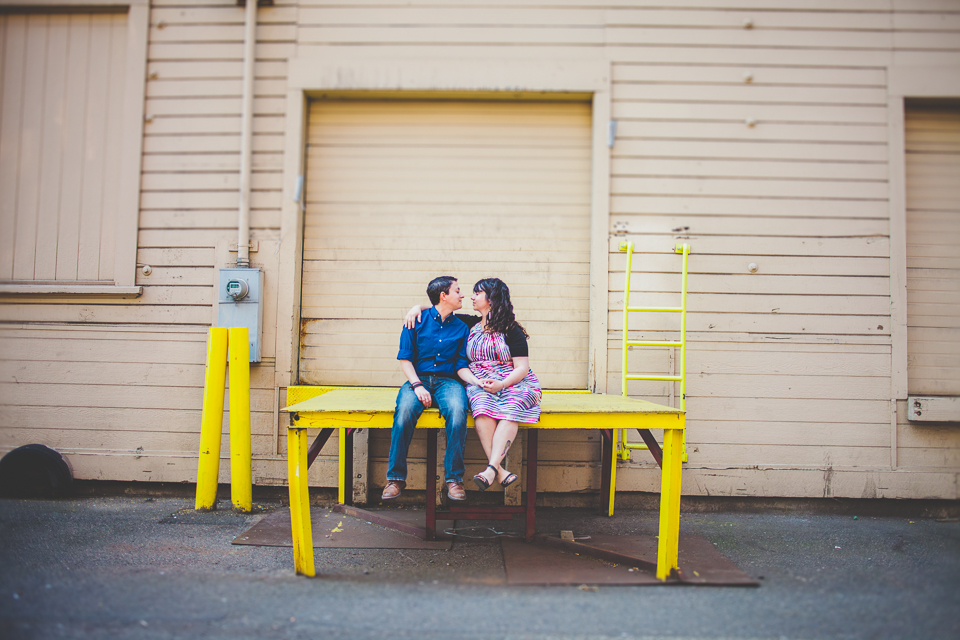 Dani + Rachel Industrial Engagement Shoot
