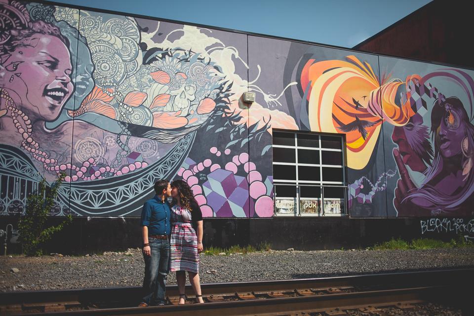 Dani + Rachel Industrial Engagement Shoot