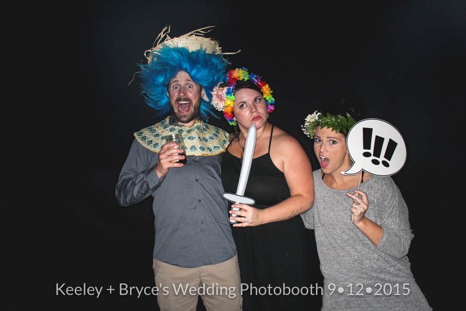 Keeley + Bryce's Wedding Photobooth